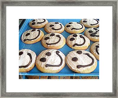 Happy Cookies Framed Print