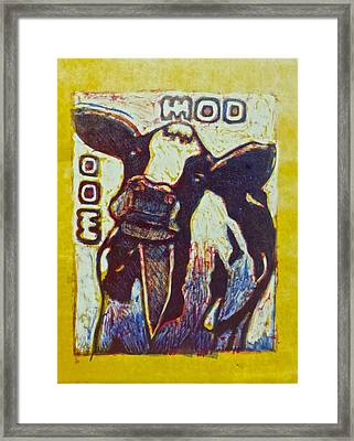 Happy Cow Framed Print