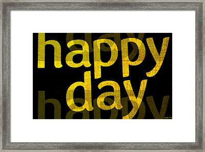 Happy Day Two Framed Print