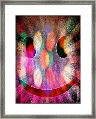 Happy Dimensions Framed Print
