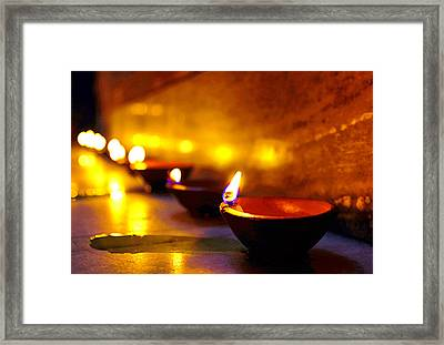 Happy Diwali Framed Print