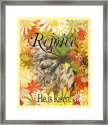 Happy Easter Framed Print by Carla Parris