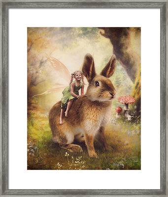 Happy Easter Framed Print by Cindy Grundsten