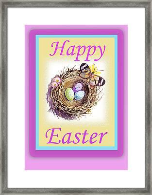 Happy Easter Happy Nest Framed Print