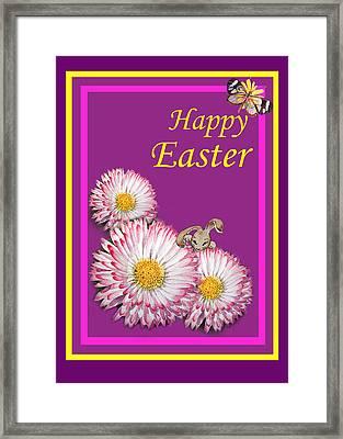 Happy Easter Hiding Bunny Framed Print