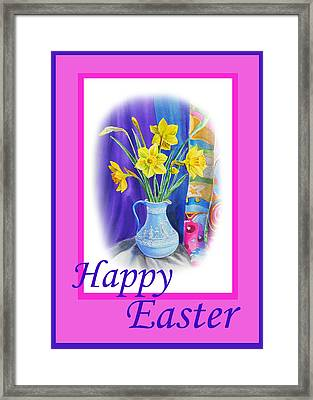 Happy Easter Framed Print by Irina Sztukowski