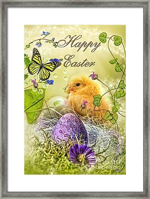 Happy Easter Framed Print by Mo T