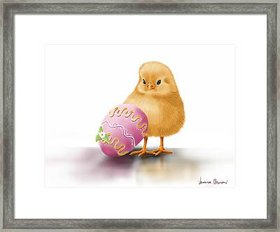 Happy Easter Framed Print by Veronica Minozzi