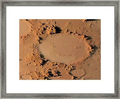 Happy Face Crater Framed Print by Detlev Van Ravenswaay