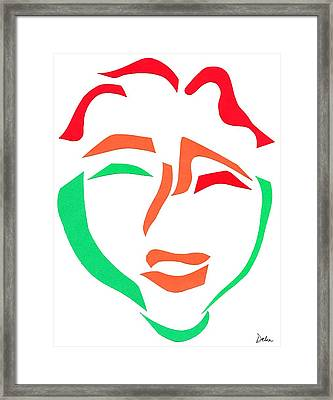 Happy Face Framed Print by Delin Colon