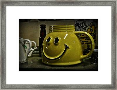 Happy Face Framed Print by Elizabeth Sullivan