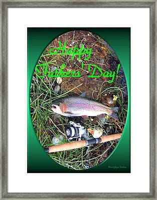 Happy Father's Day Framed Print by Joyce Dickens