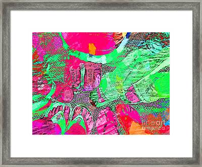 Happy Feet Abstract Photoart Framed Print by Debbie Portwood