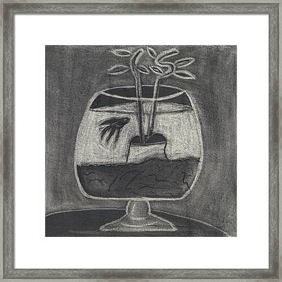 Framed Print featuring the drawing Happy Fish by Artists With Autism Inc