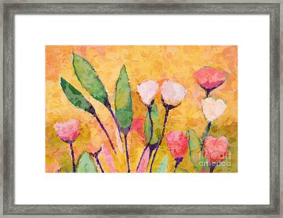 Happy Flowers Framed Print by Lutz Baar