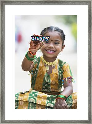 Happy Girl Framed Print by Tim Gainey