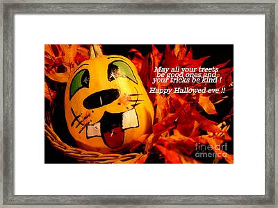 Framed Print featuring the photograph Happy Hallowed Eve by Gary Brandes