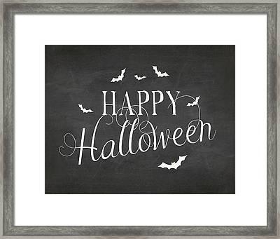 Happy Halloween Framed Print by Amy Cummings