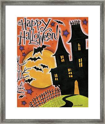 Happy Halloween Framed Print by Anne Tavoletti