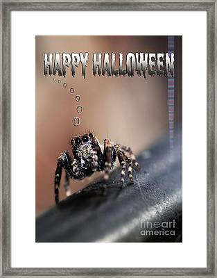 Happy Halloween For The Spider Lovers Framed Print