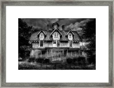 Haunted Framed Print by Fran J Scott