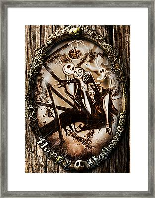 Happy Halloween IIi Sepia Version Framed Print