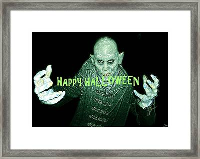 Happy Halloween The Count Framed Print by David Lee Thompson