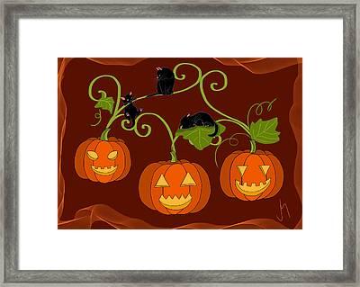 Happy Halloween Framed Print by Veronica Minozzi