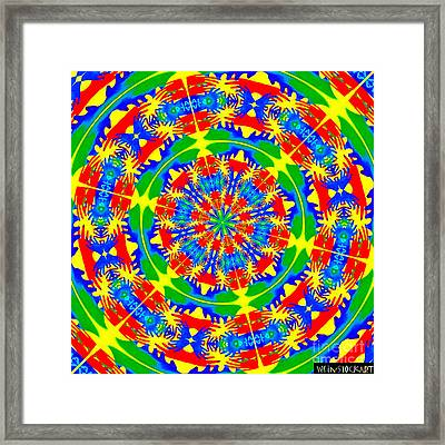 Happy Hands Mandala Framed Print by Linda Weinstock
