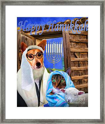 Happy Hanukkah  - 2 Framed Print