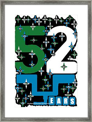 Be A Happy Fifty-two Years In The Makings  Framed Print by Mudiama Kammoh