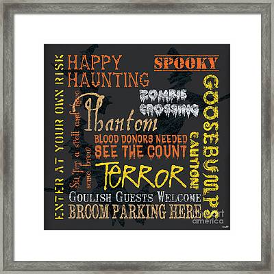 Happy Haunting Framed Print by Debbie DeWitt