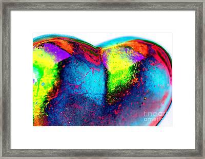 Happy Heart Framed Print by Carol Lynch