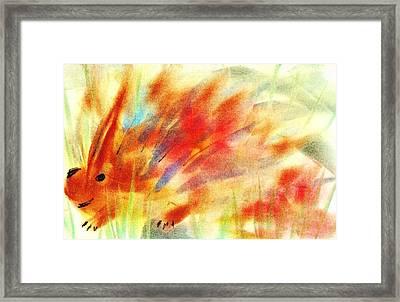 Happy Hedgehog Framed Print by Anastasiya Malakhova