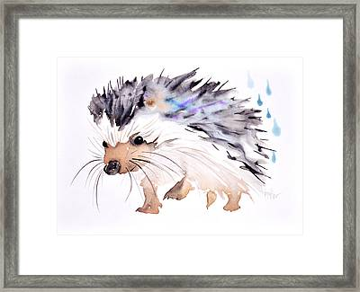 Happy Hedgehog Framed Print by Krista Bros