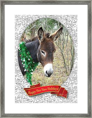 Happy Hee Haw Holidays Framed Print
