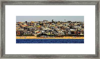 Happy Hillside Squeeze Framed Print
