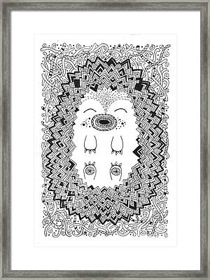 Happy Hog Framed Print