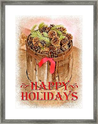 Happy Holiday Barrel Framed Print by Cristophers Dream Artistry