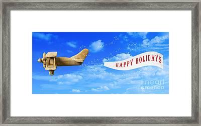 Happy Holidays Banner Framed Print