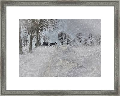 Happy Holidays From Pa Framed Print by Lori Deiter