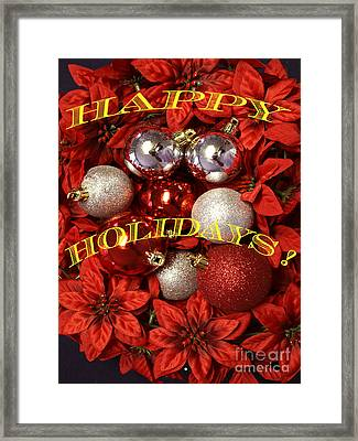 Framed Print featuring the photograph Happy Holidays by Gary Brandes