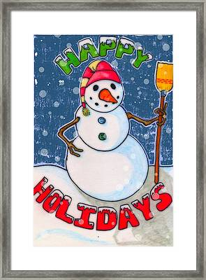 Happy Holidays Framed Print by Jame Hayes