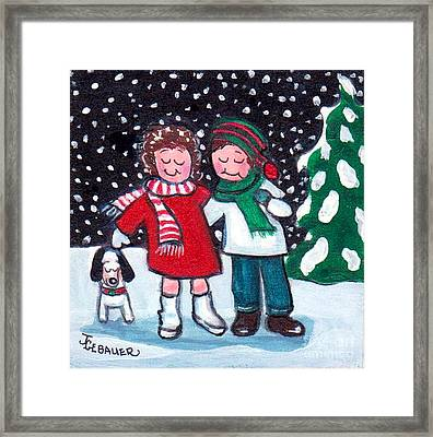 Framed Print featuring the painting Happy Holidays by Joyce Gebauer