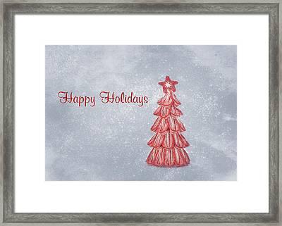 Happy Holidays Framed Print by Kim Hojnacki