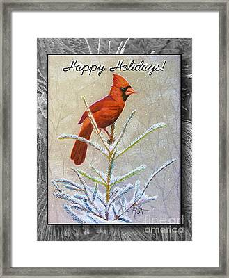 Happy Holidays Framed Print by Marilyn Smith