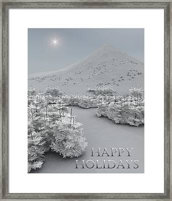Happy Holidays Framed Print by Richard Rizzo