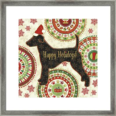 Happy Holidogs Iv Framed Print by Veronique Charron