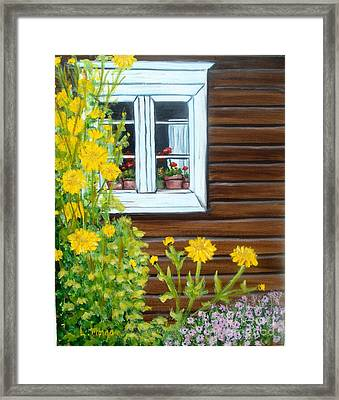 Happy Homestead Framed Print