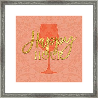 Happy Hour Framed Print by Amy Cummings